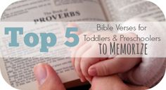 Top 5 Bible Verses for Toddlers and Preschoolers to Memorize