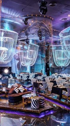 Roberto Cavalli Restaurant and Club at the Fairmont Hotel, Dubai, United Arab Emirates designed by Philippe Bacha