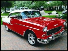 1955 Chevrolet Bel Air Hardtop 350 CI, Automatic presented as lot at Houston, TX 2013 - thumbail 1955 Chevrolet, Chevrolet Bel Air, Chevrolet Trucks, Chevrolet Impala, 1955 Chevy Bel Air, Carros Vintage, Auto Retro, Us Cars, Old Trucks