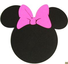 """free minnie mouse printables   20 pack -2.5"""" Minnie Mouse ears with a HOT PINK bow- DIY cupcake ..."""