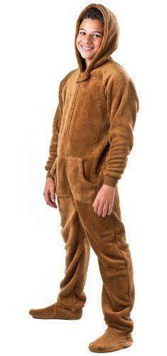 Good Bedtime bear footed pajamas for adults