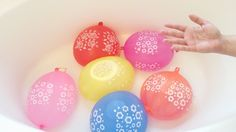 5 Wet Big Balloon - Top Learn Colours/colors Water Balloons - Finger Fam...