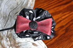 Items similar to The Ronnie - Hand Molded Leather Bow Headpiece - Metal Headband on Etsy Hand Molding, Leather Bow, Headpiece, Trending Outfits, Bows, Unique Jewelry, Handmade Gifts, Etsy, Accessories