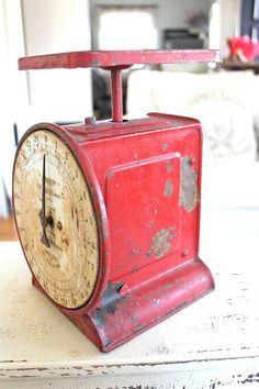 Farmhouse Vintage Scale Red Farmhouse Decor Home by NavarreCharm, $38.00