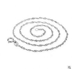 New 2.25mm 925 Stamped Sterling Silver Water Wave snake Chain necklace pendant  #Unbranded #Chain