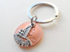 Number One Mama 2015 Penny Keychain