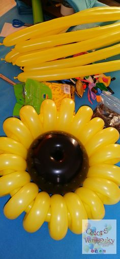 Balloon Flowers, Balloons, Outdoor Decor, Home Decor, Sunflowers, Globes, Yellow, Decoration Home, Room Decor