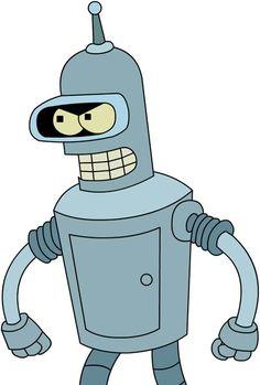 Bender from Futurama Futurama, Cartoon Tv, Cartoon Characters, Robot Tattoo, Golf Mk4, American Dad, Pink Panthers, Homer Simpson, Comedy Central
