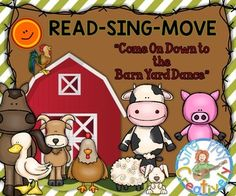 READ-SING-MOVE FARM ACTIVITY SONG *MINI-BOOK *Puppets *Mov