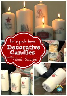 Back by popular demand-How to make decorative candles with Heidi Swapp. @Heidi Swapp #mycraftchannel #christmas #candles