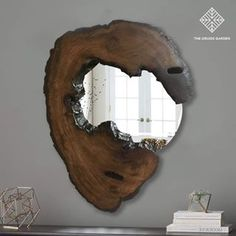 The Druid's Garden (@thedruidsgarden.in) • Instagram photos and videos Driftwood For Sale, Driftwood Lamp, Wood Lamps, Rustic Wall Mirrors, Wood Framed Mirror, Mirror Art, Live Edge Furniture, Wood Furniture, House Window Design