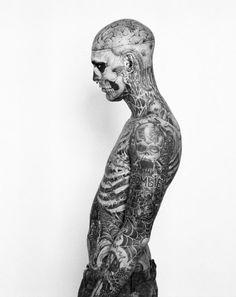 Rick Genest, full body tattoo