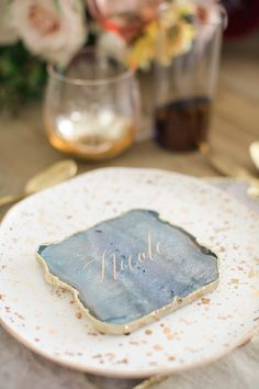 Rustic Modern Romance in Malibu California Dates, California Wedding, Southern California, Blue Table Settings, Place Settings, Kiss Goodnight, Dusty Blue Weddings, Seating Cards, Wedding Inspiration