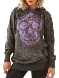 Women's Skullusion Pullover Hoodie - Black