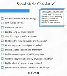 Your 12-point #SocialMedia checklist of questions to ask before posting your next update! #Marketing