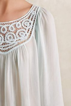 Lace Scroll Peasant Top - anthropologie.com #anthropologie #AnthroFave