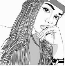 Pictures of outline drawings of famous people - Tumblr Hipster, Tumblr Bff, Tumblr Girls, Hipster Art, Tumblr Outline, Outline Art, Outline Drawings, Cute Drawings, Girl Drawings