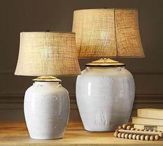 Courtney Ceramic Table Lamp Base - Ivory #potterybarn