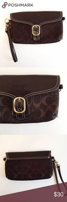Coach Clutch Wristlet I got this clutch as a gift. I don't think it's real coach though. However, it's in good condition and barely used. Coach Bags Clutches & Wristlets
