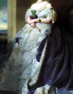 Julia Louise Bosville, Lady Middleton (1863) (Detail) Franz Xaver Winterhalter