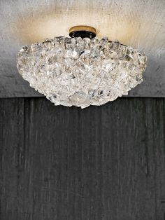 Rock Crystal Ceiling Fixture ROCK CRYSTAL COLLECTION >> CL Sterling & Son