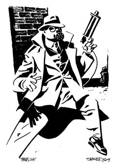 Sandman/Wesley Dodds by Chris Samnee