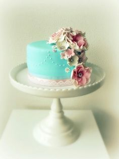 Blue cake.