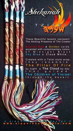 SHEKINA Tzitzit 100% COTTON Cords Torah Messianic Jewish Tallit