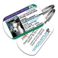 North Carolina Driver's License Pet Tag
