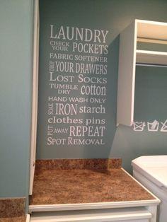 Laundry Subway Art Vinyl Wall Phrase by lisamingersoll on Etsy, $35.00