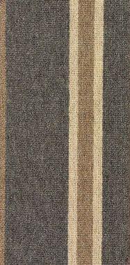"Camel, Medium Taupe, and Norwegian Gray ""Impressions Stripe"" carpet border"