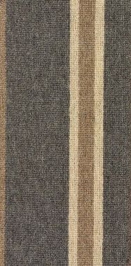 "Camel, Medium Taupe, and Norwegian Gray ""Impressions Stripe"" carpet border"
