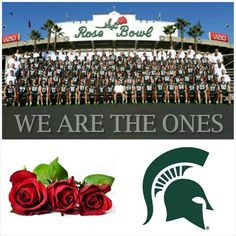 Michigan State Spartans in the Rose Bowl, Jan. 1, 2014