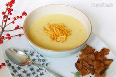 Krémová polievka z kvaky, petržlenu a póru - Recept Fondue, Panna Cotta, Cheese, Ethnic Recipes, Dulce De Leche