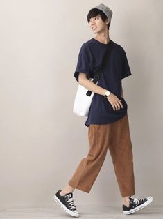 men's street style outfits for cool guys Japan Fashion Casual, Korea Fashion, Japan Street Fashion, Mens Dressing Styles Casual, Designer Clothes For Men, Designer Clothing, Japanese Outfits, Japanese Fashion Men, Mens Style Guide