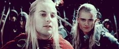 Trolling Legolas.  [gif set]  Seriously... I need to rewatch the whole trilogy just for Orlando Bloom's facial expressions!