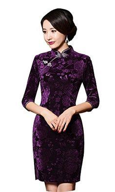 55b099d83 iRachel Womens Chinese Traditional Apparel QiPao Elegant Retro Cheongsam  Dress - Asian L (US S