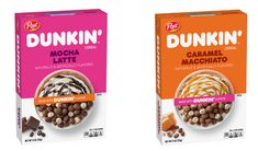 New Cereal, Flavored Marshmallows, Latte Flavors, Caramel Latte, Dunkin Donuts, Doughnuts, Coffee Drinks, Dog Food Recipes, Drink Recipes