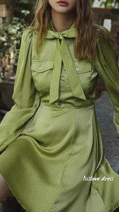 Retro Fashion, Vintage Fashion, English Cottage Style, Romantic Outfit, Parisian Style, Feminine Style, Shirt Dress, Chicano, Unique