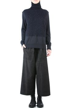 I need to do this with the wool trousers and find the perfect top for the siloete Mode Alternative, Mode Vintage, Issey Miyake, Casual Fall, Fashion Outfits, Womens Fashion, Fashion Brands, Knitwear, What To Wear