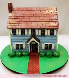 I Wonder What Flavor This House Cake Is Architecture Pink Box
