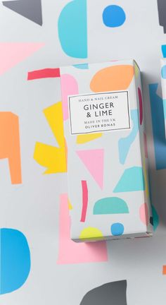 Oliver Bonas - New for Spring/Summer 2016 Ginger & Lime fragranced hand cream... artworked by me!