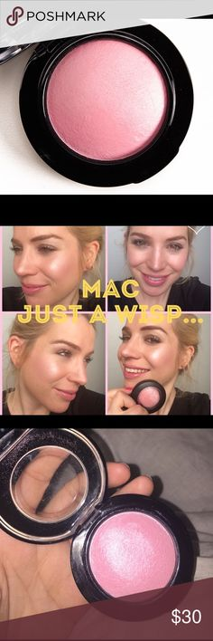 MAC just a wisp mineralize blush ✨✨ Beautiful shade of blush looks beautiful on all skin tones ✨ brand new only swatch once ✨ MAC Cosmetics Makeup Blush