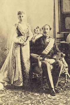 MATERNAL GRANDPARENTS OF NICHOLAS...Queen Louise and King Christian IX of Denmark, 1892.