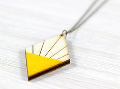 Diamant Kette gelb Holz von golden spleen auf DaWanda.com