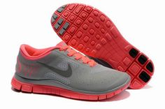 c6cb2efd8850 Nike Free 4.0 V2 Cool Grey Siren Red Womens Shoes On Sale