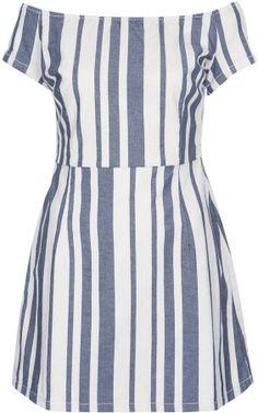 Topshop MOTO Stripe Denim Dress - charming dress