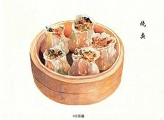 Japanese Dishes, Japanese Food, World Recipes, Real Food Recipes, Cute Food, Yummy Food, Desserts Drawing, China Food, Watercolor Food