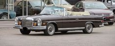 1970 Mercedes Benz 280SE low-grille cabriolet, DB423 Tobacco Brown with beige leather, brown convertible top, S/N 11102512004400 , 2.8 litre in-line 6 cylinder engine, automatic transmission, Behr air conditioning, power windows, modern am/fm/single CD radio, original Becker radio comes with, tool roll and jack, owner's manual, original colors, one of 200 low-grille cabriolets manufactured. For only $145,000 #gullwingmotorcars #classiccars #buy&sellclassiccars #VintageCarBuyer #ClassicCar