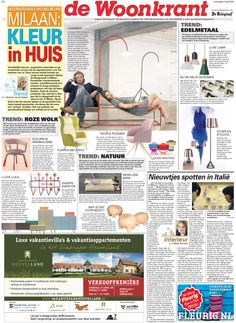TODAY #DESIGNWEEK #MILAN 2013 FIRST #TRENDS IN NEWSPAPER #TELEGRAAF